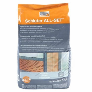 Schluter ALL-SET - Specialized Modified Thin-set Mortar - 50 lb bag - Gray