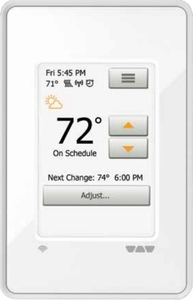 Schluter Systems Ditra Heat WiFi Touchscreen Programmable Thermostat (DHE RT 104/BW)