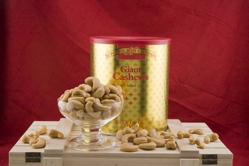 Roasted and Salted Giant Cashews Gold Tin (3.75 Lb. Tin)