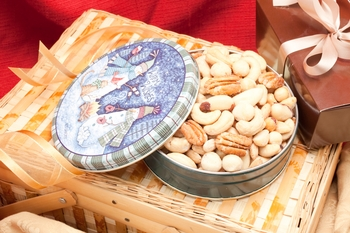 Salted Superior Mixed Nuts Holiday Gift Tin