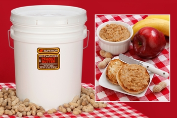 Unsalted Crunchy All Natural Peanut Butter (45 Pound Pail)