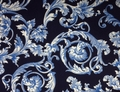 Kanvas - BAROQUE SCROLL (Navy)