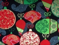 Kanvas - DECK THE HALLS (Red Green Ornaments - Black)