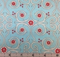 Red Rooster - Primrose Sands - Swirls and Flowers (Teal)