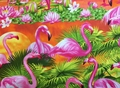 Timeless Treasures - FLAMINGO SUNSET