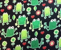 Timeless Treasures - FROGS (Black)
