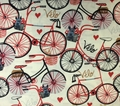 Timeless Treasures - VELO (Bicycles - Ivory)