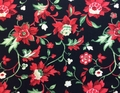 Wilmington Prints - CRIMSON AND HOLLY (Black)