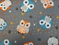 Wilmington Prints - CUTE CRITTERS (Owls - Gray)