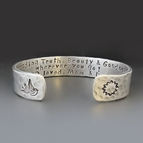 1/2 inch Hand Stamped Personalized Silver Cuff