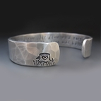 1/2 inch Personalized Silver Cuff Bracelet