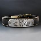Custom Leather Dog Collar - 1 inch Wide