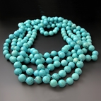 Long Blue Gemstone Turquoise Necklace {60 or 80 inches}