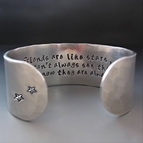 Good Friends Are Like Stars Silver Hand Stamped Bracelet