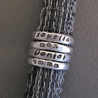 Reserved for Billy - Set of THREE Stacking Rings