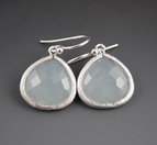 Blue Gemstones - Sterling Silver Earrings