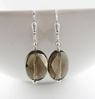 Brown Quartz Earrings - Sterling Silver