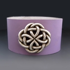 Leather Celtic Love Knot Infinity Bracelet