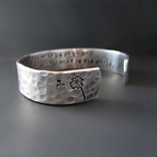 Custom Make A Wish Silver Cuff Bracelet
