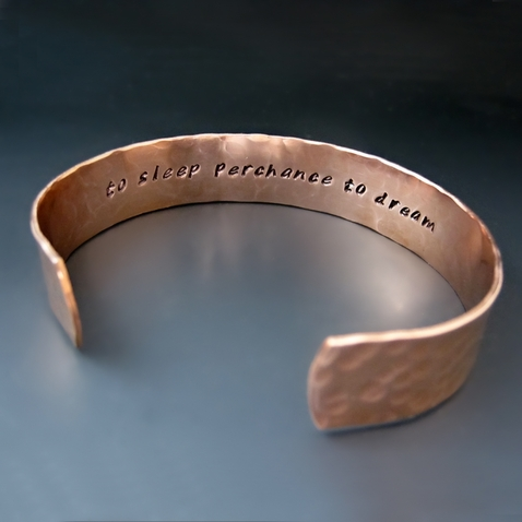 1/2 Inch Personalized Hand Stamped Copper Cuff
