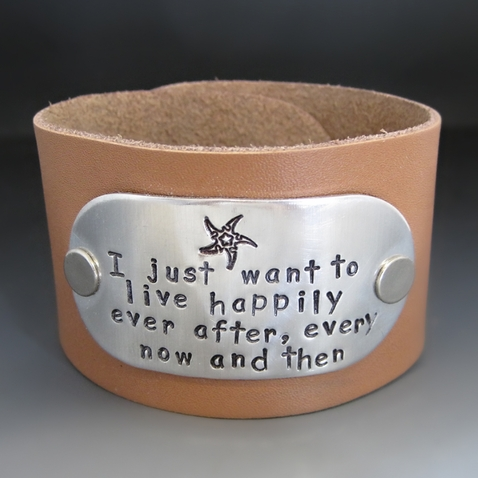 Happily Ever After Leather Cuff Bracelet