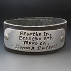 Jimmy Buffett Breathe In Breathe Out Leather Cuff Bracelet