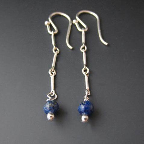 Lapiz Lazuli - Dangle Earrings