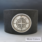 Leather Compass Cuff Bracelet
