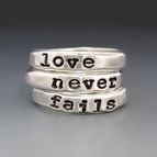 Sterling Silver Love Never Fails Stacking Rings