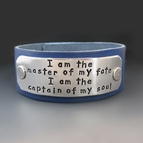I Am The Master Of My Fate Leather Cuff Bracelet