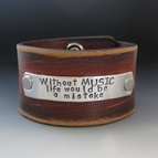 Black N Tan Men's Custom Leather Cuff