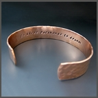 Men's Hammered Cuffs {Silver, Copper, Brass}