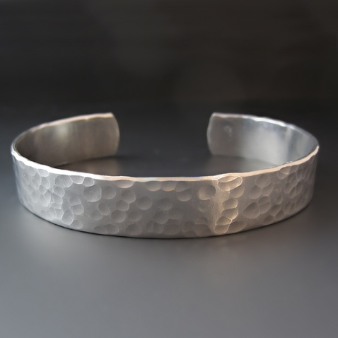 Men's Silver Hammered Cuff {3/8, 1/2, 3/4 or 1 inch}