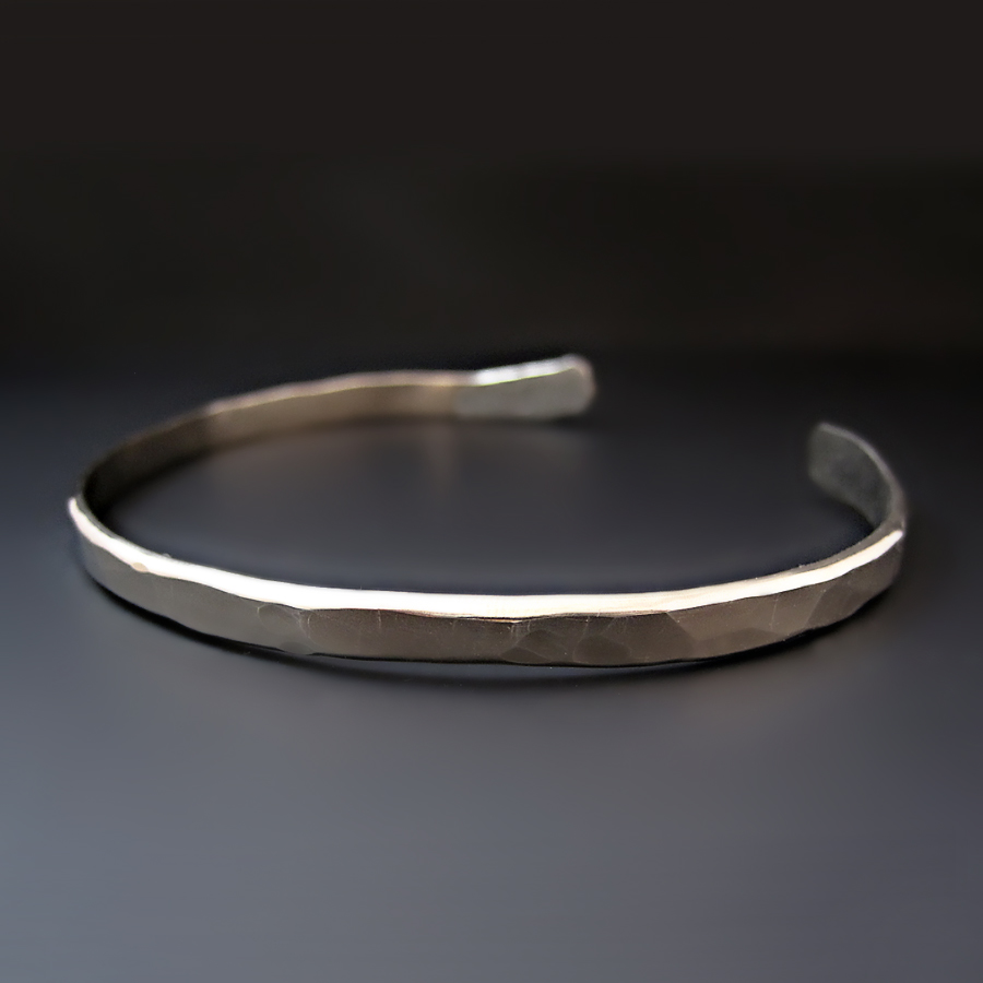 simple stacking sterling plate womens cuff plain silverly gypsy mm smooth thin products silver bangle bracelet bangles base bracelets