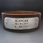 Men's Save The Date Leather Cuff