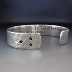 Not In Our Stars To Hold Our Destiny Silver Cuff Bracelet