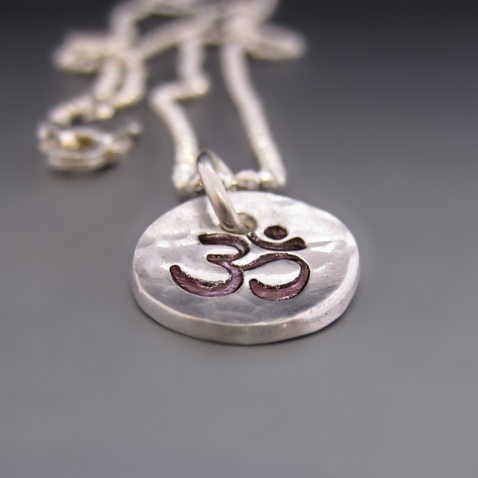Fine & Sterling Silver OM Yoga Necklace