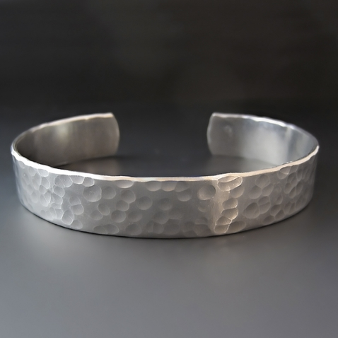 1/2 inch Personalized Silver Hand Stamped Cuff Bracelet