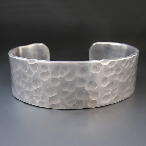 PERSONALIZED Hand Stamped 3/4 Inch Wide  Silver Cuff Bracelet