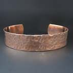 Women's Hammered 1/2 inch Copper Cuff Bracelet