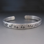 1/4 inch Wide Personalized Thin Silver Stacking Bracelet
