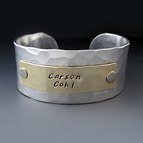Personalized Gold and Silver Children's Name Bracelet