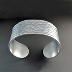 Personalized 1 inch Wide Custom Silver Cuff Bracelet