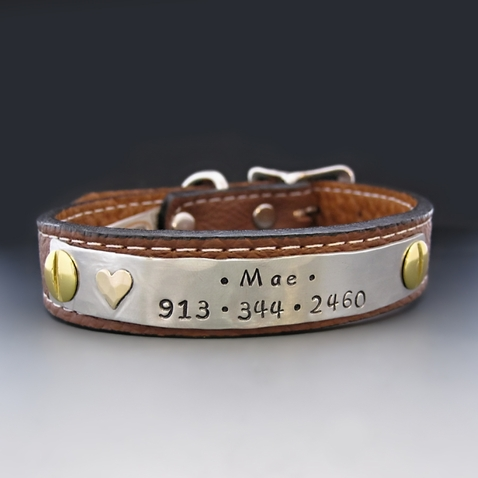Personalized Leather Dog Collar {For Small Breeds}