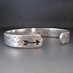 Custom Silver Arrow Cuff Bracelet