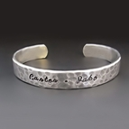 Personalized STERLING SIVLER Cuff Bracelet