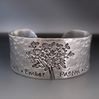 Personalized Silver Family Tree Bracelet