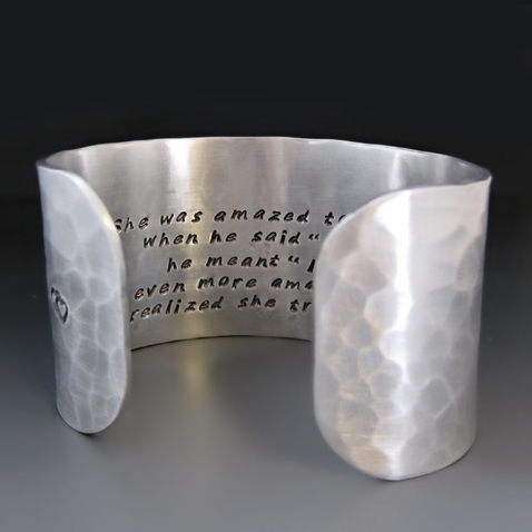 "Princess Bride ""As You Wish"" Quote Silver Bracelet"