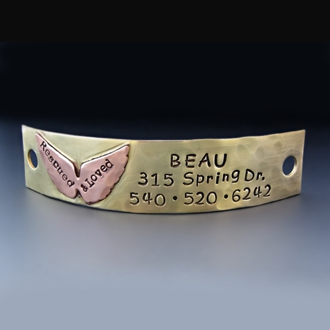Personalized Puppy Plate for Rescue Dog Collar