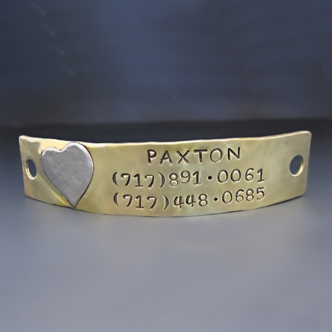 Personalized Dog Tag Puppy Plate